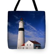 Point Lamour Lighthouse Tote Bag