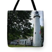 Pointe Aux Barqes Lighthouse Tote Bag