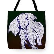 Pointillism Elephant Tote Bag