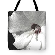 Pointillized Althea Flower Tote Bag