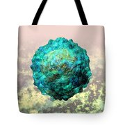 Polio Virus Particle Or Virion Poliovirus 1 Tote Bag by Russell Kightley