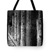 Pompeii Columns Black And White Tote Bag