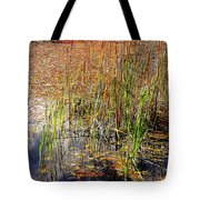 Pond And Rushes Tote Bag