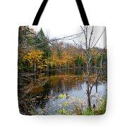 Pond On Limekiln Road Tote Bag