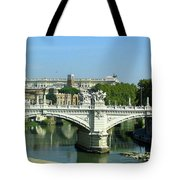 Ponte Sant'angelo In Rome Tote Bag