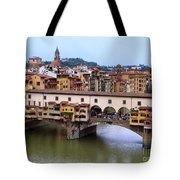 Ponte Vecchio From Uffizi Tote Bag