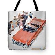 Pontiac Advertisement 1957 Tote Bag