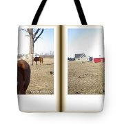Pony Pose - Gently Cross Your Eyes And Focus On The Middle Image Tote Bag
