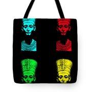 Pop Nefertiti Tote Bag