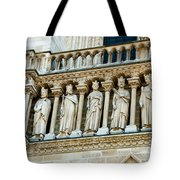 Popes At Notre Dame Cathedral Tote Bag