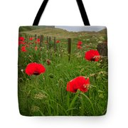 Poppies By The Roadside In Northumberland Tote Bag