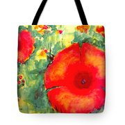 Poppies Face To The Sun Tote Bag