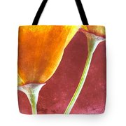 Poppies On Red  Tote Bag