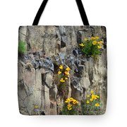 Poppies On The Cliff Tote Bag