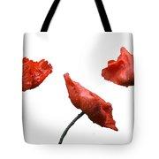Poppies On White Tote Bag