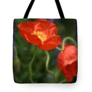 Poppies With Impressionist Effect Tote Bag