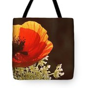 Poppy And Lace Tote Bag