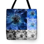 Poppy Blue - Macro Flowers Fine Art Photography Tote Bag