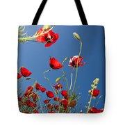 Poppy Field Tote Bag by Ayhan Altun