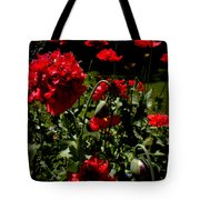 Poppy Pompom Tote Bag