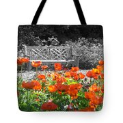 Poppy Seed Bench Tote Bag