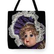 Porcelain Doll - Head And Bonnet Tote Bag