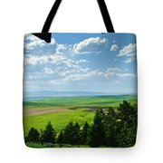 Porch View Of Wilsall Valey Tote Bag