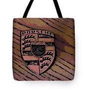 Porsche On Wood Tote Bag