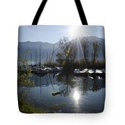 Port In Backlight Tote Bag