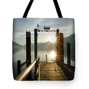 Port On In Sunset Tote Bag