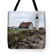 Portland Head Light Cape Elizabeth Fort Williams Maine Tote Bag