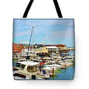 Portland Maine Harbor Tote Bag