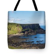 Portnaboe Bay At Giants Causeway Tote Bag