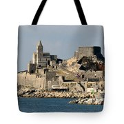 Portovenere's Church And Fortress Tote Bag