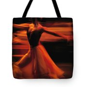 Portrait Of A Ballet Dancer Bathed Tote Bag