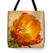Portrait Of A Cactus Flower Tote Bag