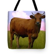 Portrait Of A Cow Tote Bag
