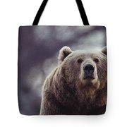Portrait Of A Kodiak Brown Bear Tote Bag