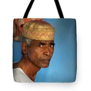 Portrait Of A Man In Charminar Tote Bag