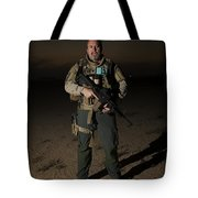 Portrait Of A U.s. Contractor Tote Bag