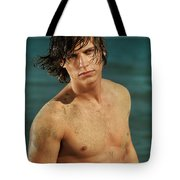 Portrait Of A Young Man On A Sea Shore Tote Bag