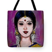 Portrait Of An Indian Woman Tote Bag