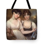 Portrait Of Anne And Maria Russell Tote Bag