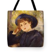 Portrait Of Mademoiselle Demarsy Tote Bag by Pierre Auguste Renoir