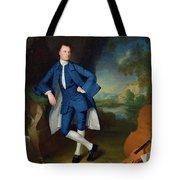 Portrait Of Man Tote Bag by George Romney
