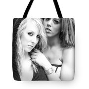 Portrait Of Young Ladies Tote Bag