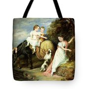 Portraits Of The Children Of The Rev. Joseph Arkwright Of Mark Hall Essex Tote Bag