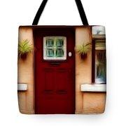 Portugal Red Door Tote Bag