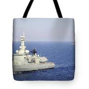 Portuguese Navy Frigate Nrp Bartolomeu Tote Bag