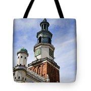 Posnan Poland Clock Tower Tote Bag